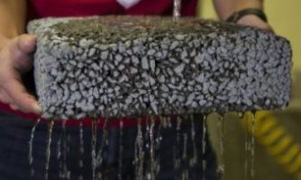 Recycled carbon fiber improve permeable pavement
