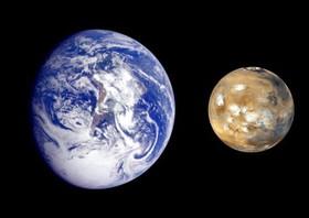 نزدیکی زمین و مریخ به یکدیگر پس از ۱۱ سال