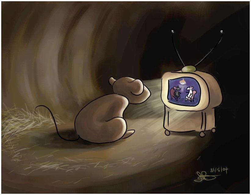 موشها هم تماشای تلویزیون را دوست دارند!