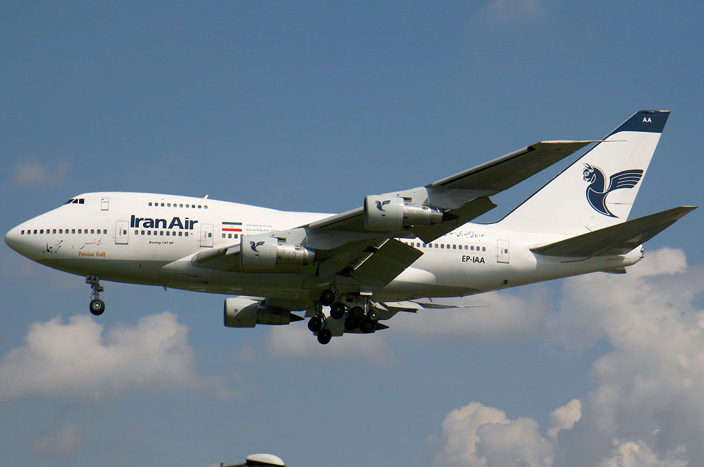 Iran_Air_Boeing_747SP_Wedelstaedt