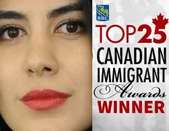 دختر کارآفرین ایرانی، برنده جایزه کاناداییهای مهاجر ۲۰۱۷