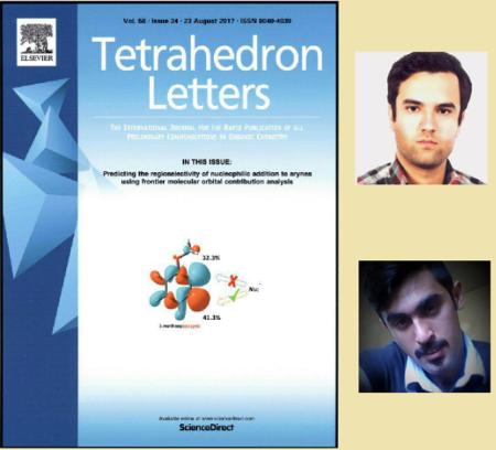 مقاله محققان ایرانی، طرح جلد مجله معتبر شیمی آلی