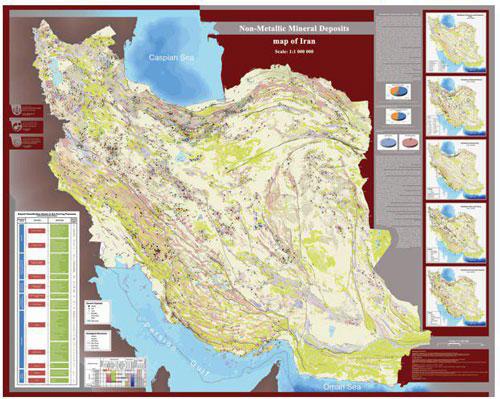 تصمیمگیریهای کلان اکتشافی آسانتر شد: تهیه نقشه تیپهای کانهزایی مواد معدنی غیرفلزی ایران در مقیاس یک میلیونیوم
