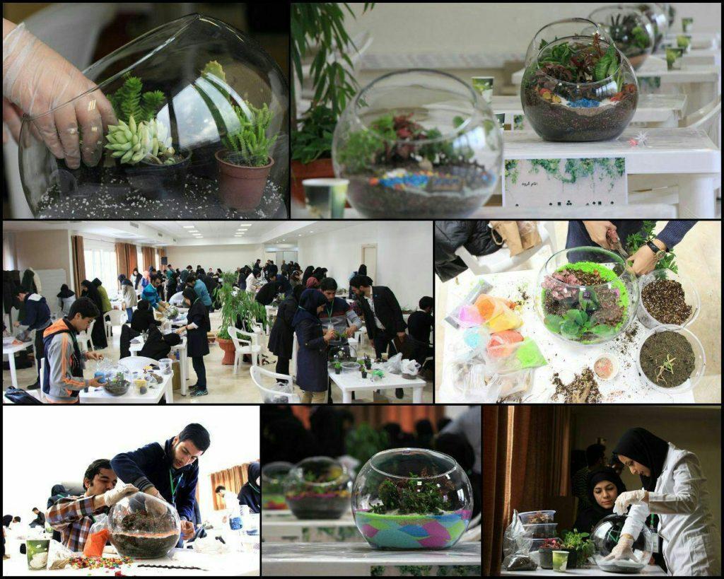 نخستین رقابت کشوری دانشجویان در ساخت باغ های شيشه ای