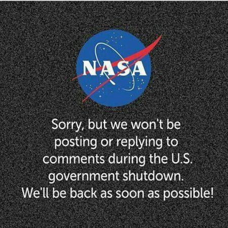 توقف بخشی از فعالیت های ناسا در پی تعطیلی دولت فدرال