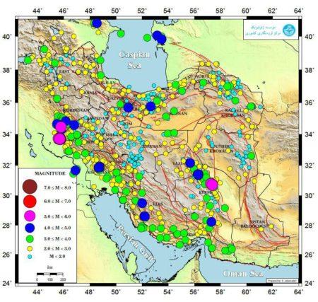 ثبت بیش از دو هزار و ۲۲۰ زمینلرزه در دی ماه