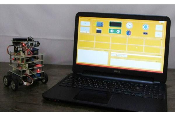ساخت ربات آموزشی با محیط برنامهنویسی گرافیکی و ارتباط وای فای