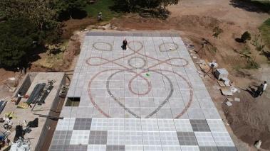 طراحی بزرگترین آبنمای کف خشک هارمونیک کشور