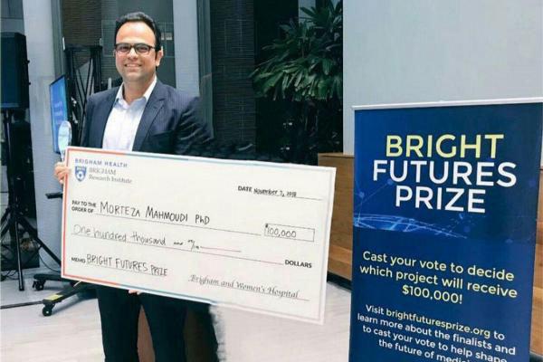 محقق ایرانی، برنده جایزه ۱۰۰ هزار دلاری «آینده روشن» شد
