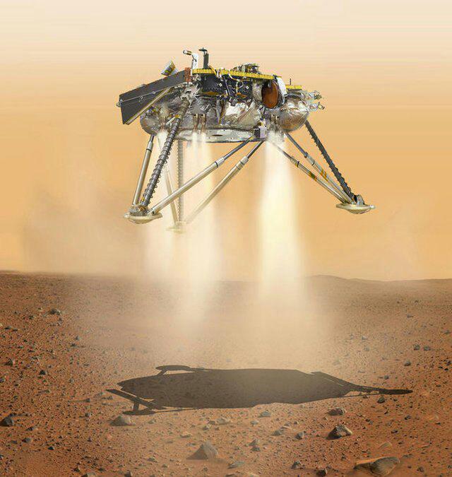 فرود موفق کاوشگر ناسا بر سطخ سیاره سرخ