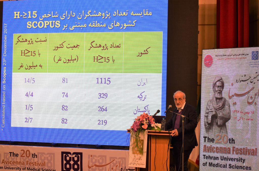معاون تحقیقات وزیر بهداشت در جشنواره ابن سینا: شمار دانشمندان برتر علوم پزشکی ایران به ۸۵۶ نفر رسید