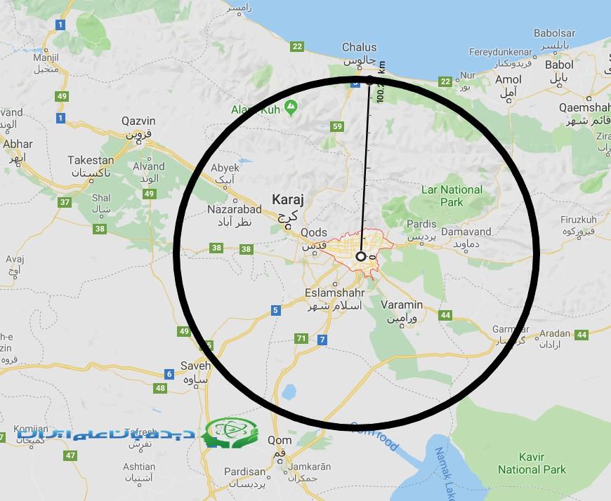 احتمال ۷۰ درصدی وقوع زلزله ای بزرگ در شعاع ۱۰۰ کیلومتری مرکز تهران طی ۱۲ سال آینده