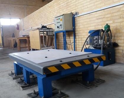 ساخت میز ارتعاشی با ظرفیت بالا در دانشگاه حکیم سبزواری
