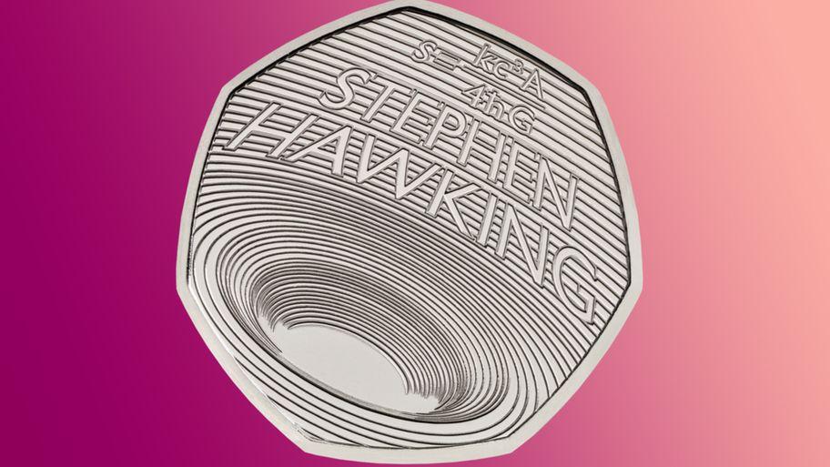 ضرب سکه یادبود «هاوکینگ» با تصویر سیاهچاله در انگلستان