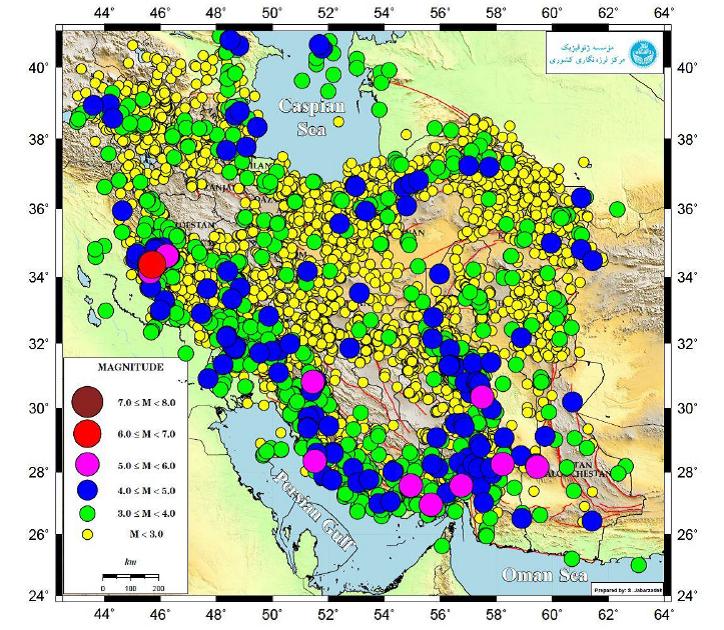 رخداد ۱۴ هزار و ۵۰۰ زلزله در ایران در سال گذشته