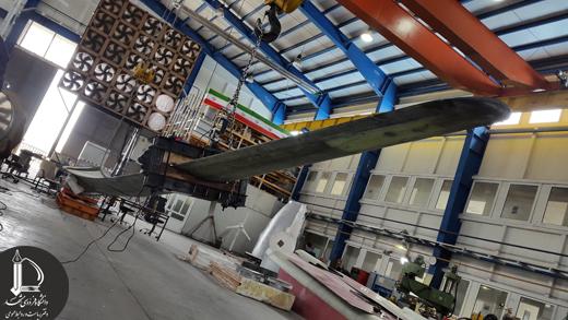 در پژوهشکده هواخورشید انجام شد: تست استاتیکی مقیاس کامل پره توربین بادی