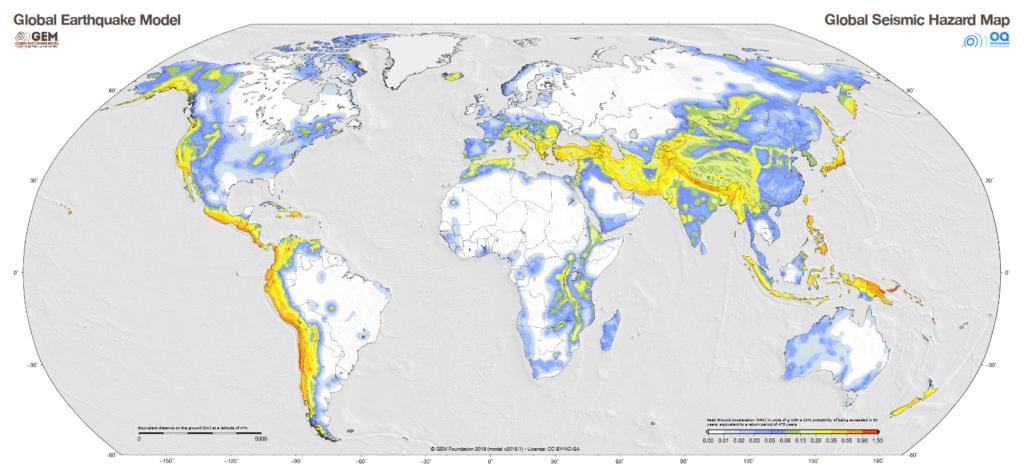 نقشه جهانی پهنه بندی خطر زلزله منتشر شد/ مشارکت زلزله شناسان ایرانی در تهیه مدل جهانی زمین لرزه