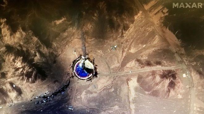 ادعای منابع خبری غرب مبنی بر انفجار در سکوی پرتاب ماهواره برهای ایران