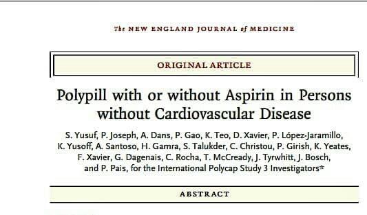 مجله مشهور «نیوانگلند» منتشر کرد: مطالعه جدید محققان جهان در اثبات تاثیر کاهش بیش از ۳۰ درصدی قرص ترکیبی «پلی پیل» بر کاهش حوادث قلبی عروقی